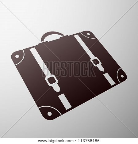 Emblem Suitcase. Stock Illustration.