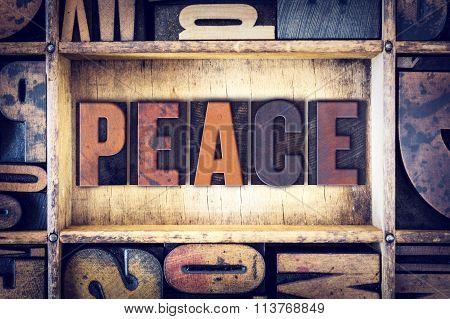 Peace Concept Letterpress Type