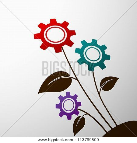 Industrial. Stock Illustration.
