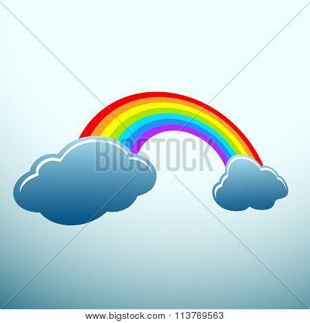 Rainbow. Stock Illustration.