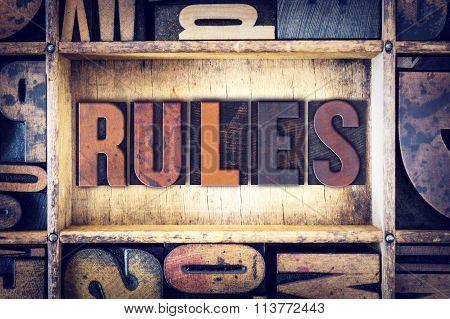 Rules Concept Letterpress Type