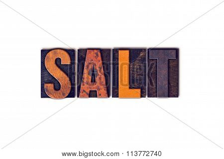 Salt Concept Isolated Letterpress Type