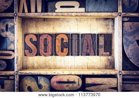Social Concept Letterpress Type