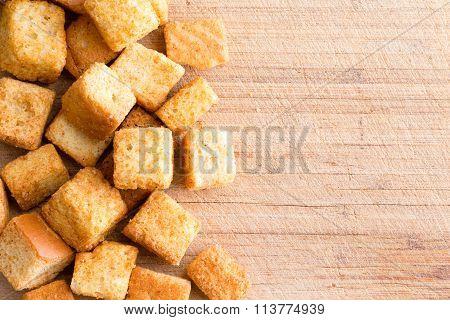 Crispy Golden Freshly Sauteed Croutons