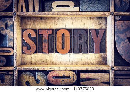 Story Concept Letterpress Type