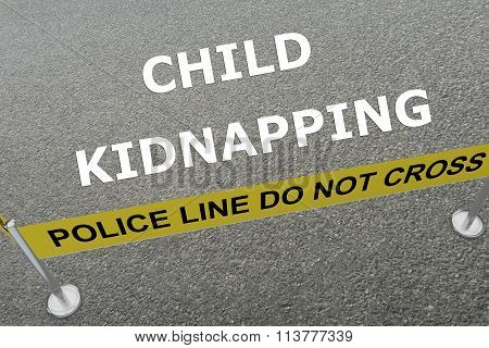 Child Kidnapping Concept