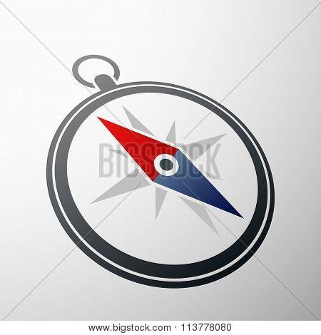 Compass Logo. Stock Illustration.