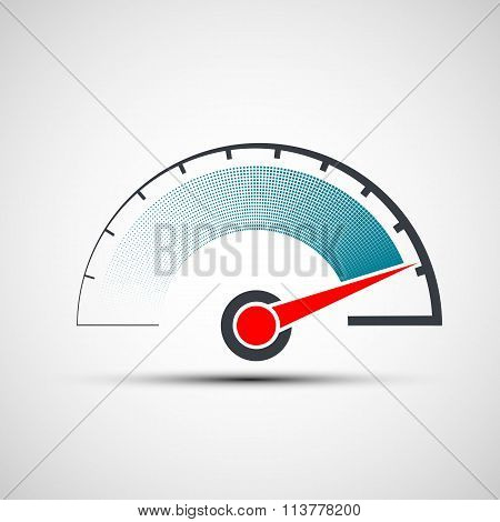 Speedometer. Stock Illustration.
