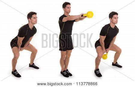 Kettlebell, Shoulder Swing Step, Exercise