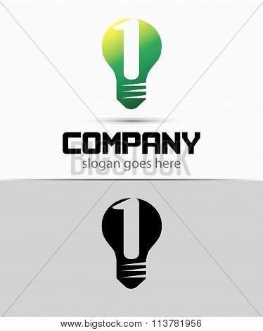 Number 1 logo. Vector logotype design set