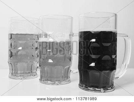 Black And White German Beer