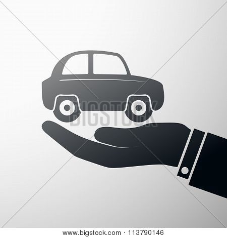 Holding A Car