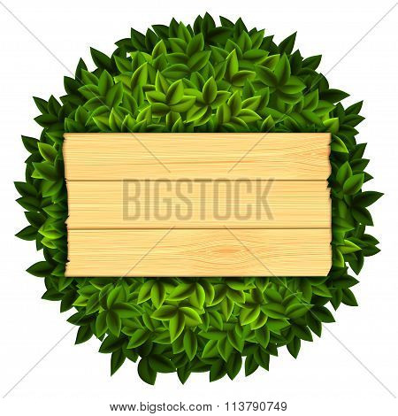 Wooden Board. Stock Illustration.