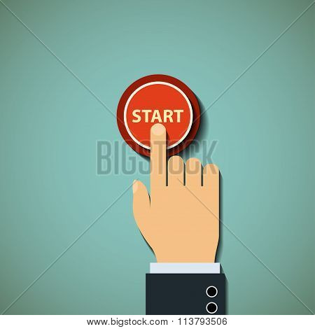 Button. Stock Illustration.