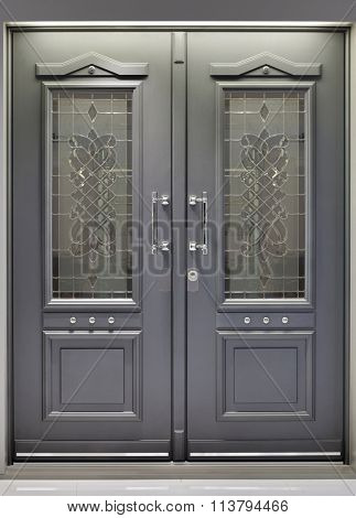 Front Metallic Aluminum Door Entrance