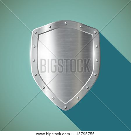 Metal Shield. Stock Illustration.