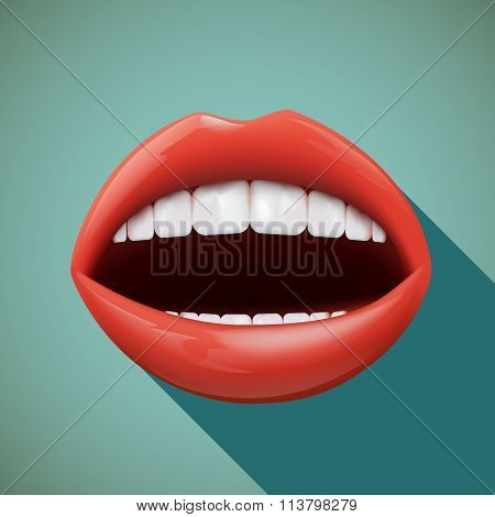 Human Mouth. Stock Illustration.