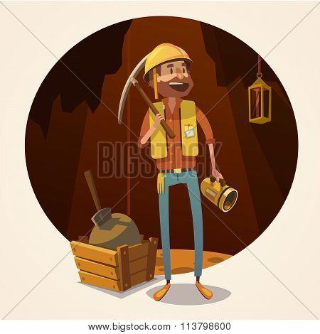 Mining concept illustration