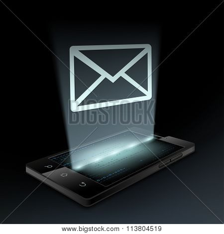 Envelope Icon On The Screen