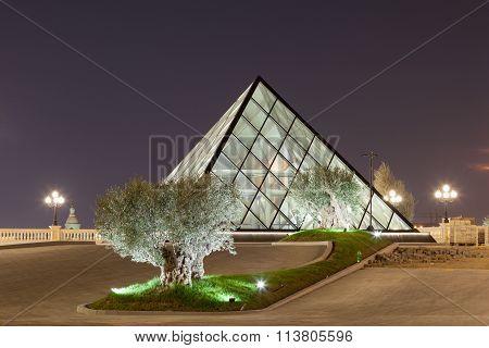 Pyramid At The Al Hazm Mall In Doha, Qatar