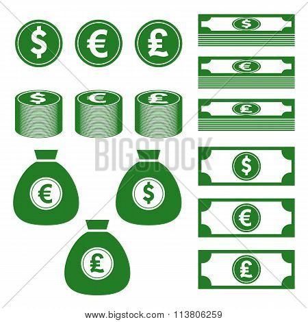 ??????Currency, finance, money icon
