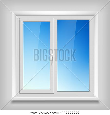 Plastic White Window.