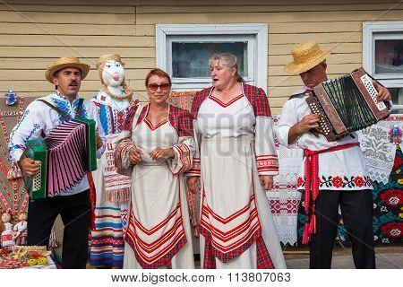 Zaslavl, Belarus, 07-september-2014: Celebration Of Events On Day Of Belarusian Written Language On