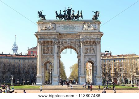 Porta Sempione / Arch of Peace in Milan