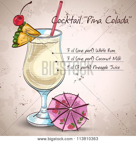 Cocktail Pina colada