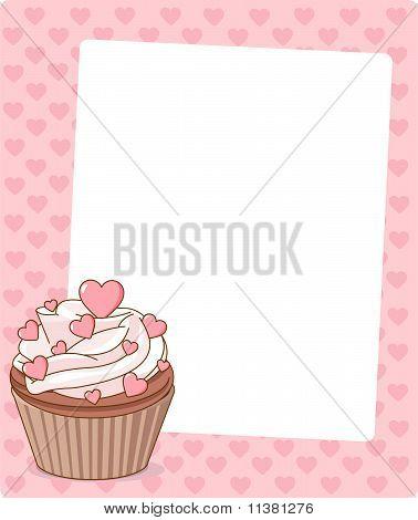 Valentine Cupcake Place Card