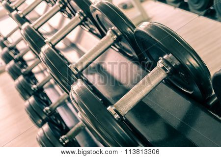Set Of Fixed-weight Dumbbells