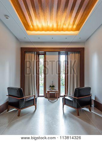 Twho Armchairs Behind Big Window