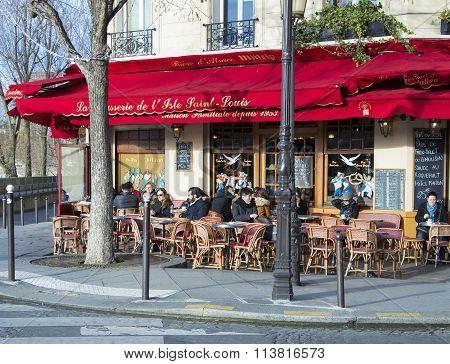 The Brasserie De L'ile Saint Louis, Paris, France.