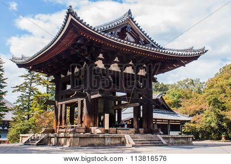 The Bell Tower At Todai-ji Temple In Nara,  Japan,