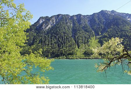Alpine Lake Achensee With Turquoise Water