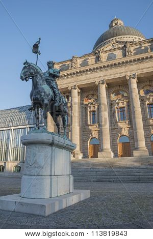 Statue Otto Von Wittelsbach, In Front Of Bavarian Chancellery, Munich