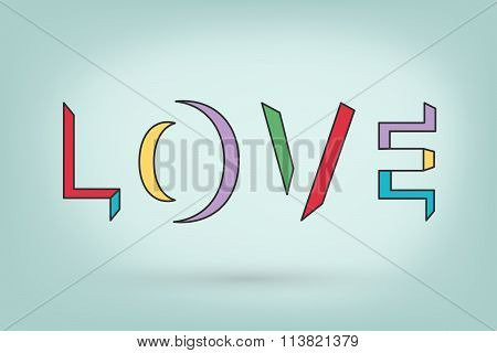 Love Word Nice Design For Special Valentines Day In Vector Esp10