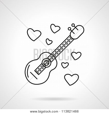 Romantic serenades flat line vector icon