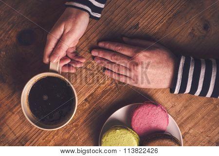 Coffee And Macaron Cookies