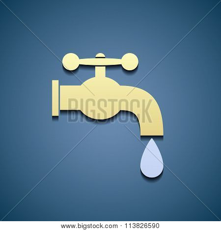 Simple Icon Tap Water.