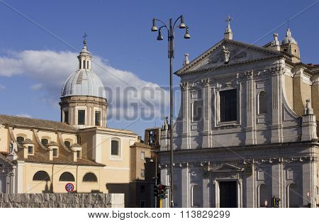 Saint Jerome Of The Croats And San Rocco Churches