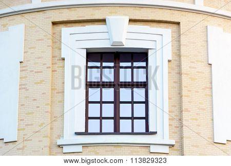 Beautiful Window On The Brick Wall.