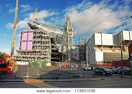 Liverpool Uk January 8Th 2016. Construction Of A New Stand, Part Of A £260 Million Redevelopment Of