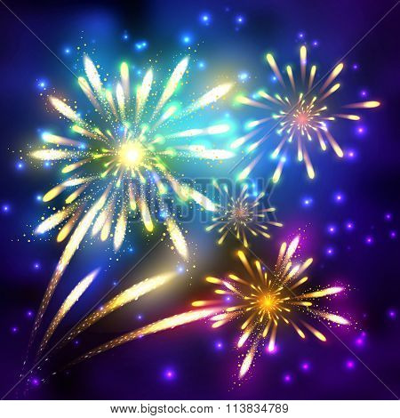 Fireworks vector illustration