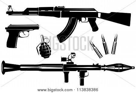 Set of firearms