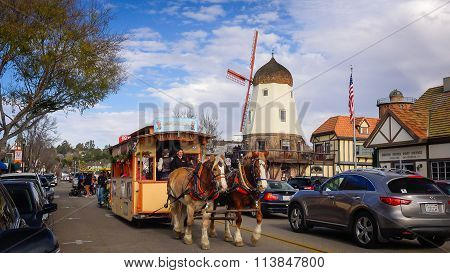 The Danish Styled Town Of Solvang In California