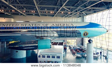 Air Force One On Display At The Ronald Reagan Presidential Library