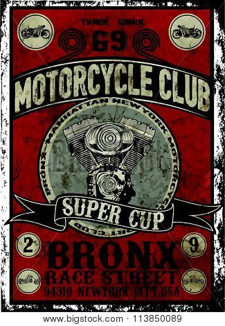 Vintage Motorcycle Vector Set.skull Riders Motorbike Vector Set