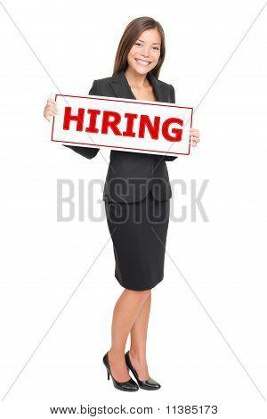 Jobs - Businesswoman Hiring