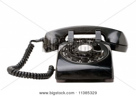 Old Black Retro Telephone